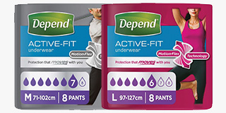 Depend Active-Fit Underwear