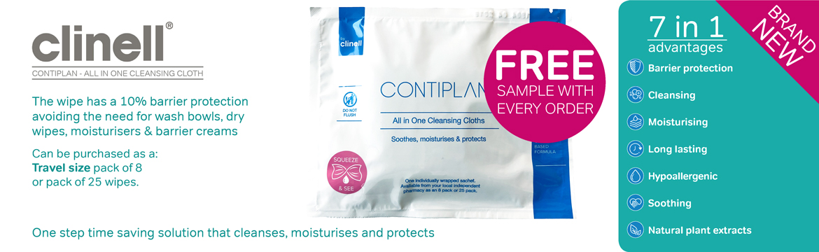 Free Sample Wipe with every Order