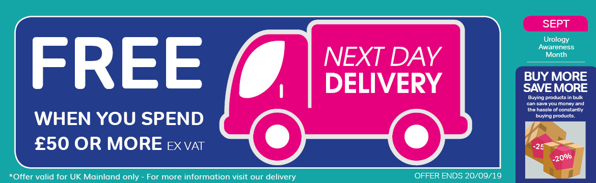 Free delivery over £50 ex vat