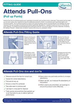 Attends Pull-Ons fitting guide