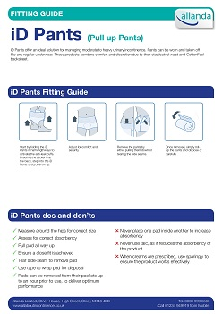 iD Pants fitting guide